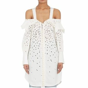 Proenza schouler of shoulder eyelet shirt dress